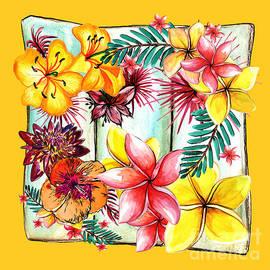 Kaye Menner - Tropicana on Yellow by Kaye Menner