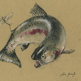 Trout eating - Juan Bosco
