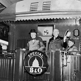 Truman and Churchill On Back Of A Train - War Is Hell Store