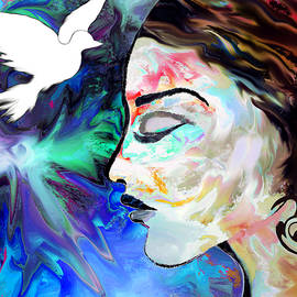 Abstract Angel Artist Stephen K - Truth Seeker in Prayer