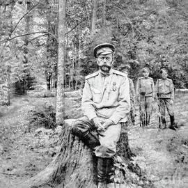 Tsar Nicholas II in Bolshevik Captivity at Tsarskoye Selo in 1917 - Russian School