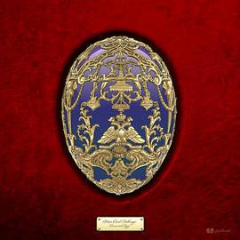 Tsarevich Faberge Egg on Red Velvet