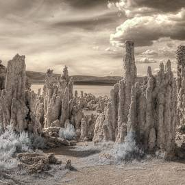 Jane Linders - Tufa Mono Lake California infrared surreal sepia