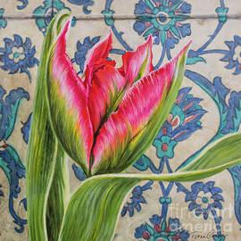 Fiona Craig - Tulipomania 10 Red Tulip and Iznik Tiles