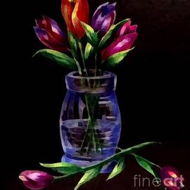 Breena Briggeman - Tulips On Black