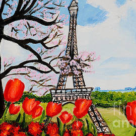 Tulips over Paris by Art by Danielle