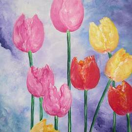 Ten  Simple  Tulips  Pink Red Yellow                                Flying Lamb Productions   by Sigrid Tune