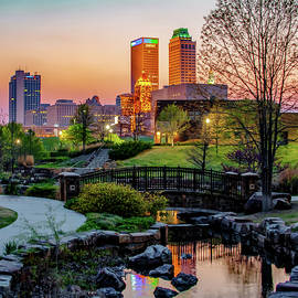 Tulsa Skyline Park View by Gregory Ballos
