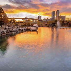 Gregory Ballos - Tulsa Skyline Sunset - Oklahoma Cityscape