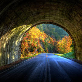 Tunnel Vision Blue Ridge Parkway Great Smoky Mountains Art by Reid Callaway