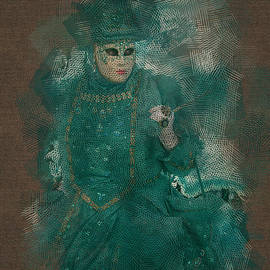Turquoise Lady Venice Carnival by Jack Torcello
