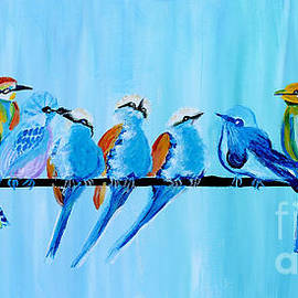 Twelve Birds by Art by Danielle