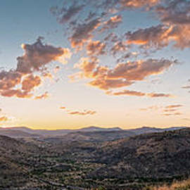 Twilght Panorama of Davis Mountains State Park Blue Mountain and Mount Livermore - Fort Davis Texas by Silvio Ligutti