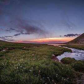 Twilight Alpine Stream by Chris Bordeleau