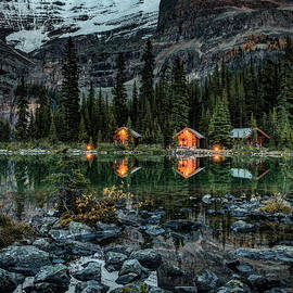 Twilight At O'hara Lake Lodge by Pierre Leclerc Photography