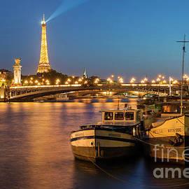 Twilight over River Seine by Brian Jannsen