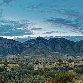 Twilight Panorama of El Capitan And Guadalupe Mountains - Culberson County West Texas by Silvio Ligutti