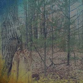 Brenda Plyer - Twilight Woods with blue and gold