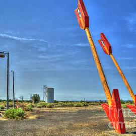 Twin Arrows Ghost Town Historic U S Route 66 Arizona Trading Post Art by Reid Callaway