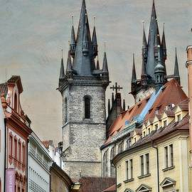 Twin Steeples In Prague by Toni Abdnour