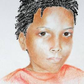 Jayne Somogy - Twists, at 9 -- Portrait of African-American Boy