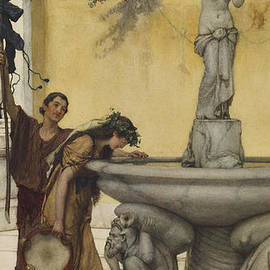 Lawrence Alma-Tadema - Twixt Venus and Bacchus