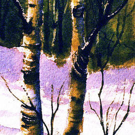 Teresa Ascone - Two Birch in Snow