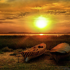 Lilia D - Two boats and sunset