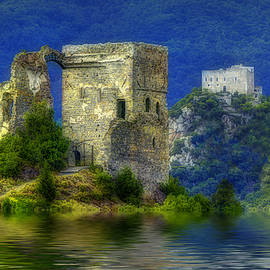 Two Castles On The Lake by Enrico Pelos
