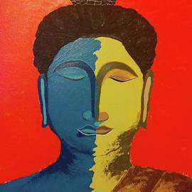 Two faces of Buddha by Mitesh Shah