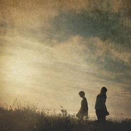 Two Girls At Sunset by Clayton Bastiani