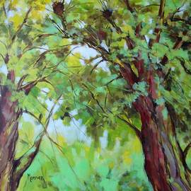 Two green trees  by Cathy MONNIER