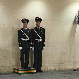 Two Guards, Beijing 2011 by Chris Honeyman