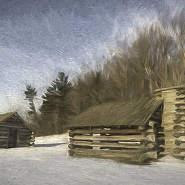 Two Huts on a Hill by Jeff Oates Photography