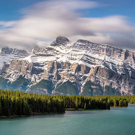 Two Jack Lake with Mt. Rundle Banff National Park by Yves Gagnon