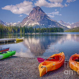 Two Medicine Lake Reflections by Priscilla Burgers