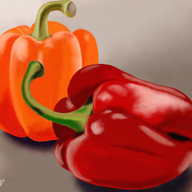 Two Peppers by Aimee Youngs