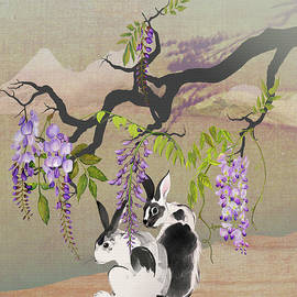 Spadecaller - Two Rabbits Under Wisteria Tree