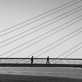 Jill Mitchell - Two Silhouettes On A Bridge
