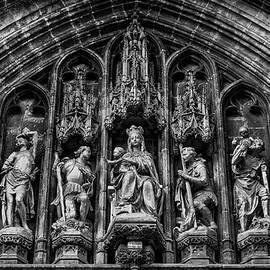 Tympanum from Notre Dame du Sablon by Pablo Lopez