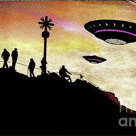 Raphael Terra - UFO Watchers Pop Art by Raphael Terra