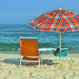 Umbrella and Chair by Allen Beatty
