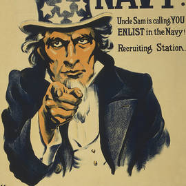Uncle Sam Wants You In The Navy 1917 by Movie Poster Prints