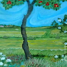 Under The Apple Tree by Anna Folkartanna Maciejewska-Dyba
