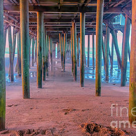 Under the Old Orchard beach pier by Claudia M Photography