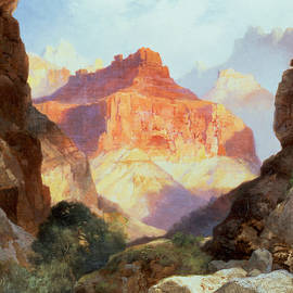 Under the Red Wall by Thomas Moran