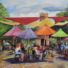 Under The Umbrellas At The Cartecay Vineyard - Crush Festival  by Jan Dappen