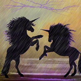 Ericamaxine Price - Unicorns in Purple Rain - Digital Art