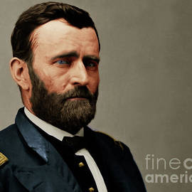 Wingsdomain Art and Photography - United States of America President General Ulysses S Grant 20170521 painterly style