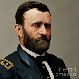 Wingsdomain Art and Photography - United States of America President General Ulysses S Grant 20170521 painterly style square